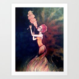 Fire Breather Art Print