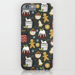 Gingerbread Christmas Yummies  iPhone Case