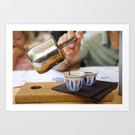 Pouring Turkish coffee Art Print