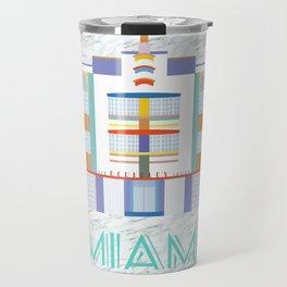 Miami Landmarks - The Berkeley Shore Travel Mug