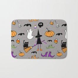 Cute #Halloween Witch and Friends Grey Bath Mat