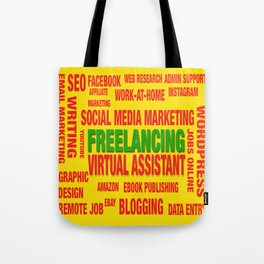 Freelancing Social Media Souvenir Tote Bag