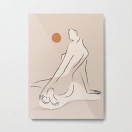 Nude 2 Metal Print