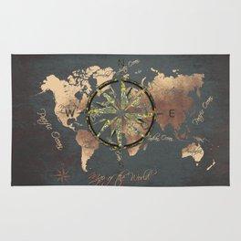 world map wind rose 8 #worldmap #map Rug