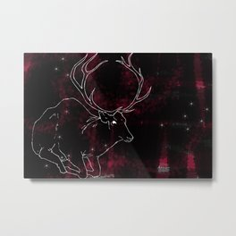 Stag in the Dusk Metal Print