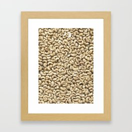 Cashew. Background Framed Art Print