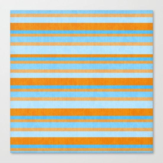 Something Fishy Stripes. Canvas Print