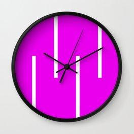 Abstract Retro Stripes Pinky Wall Clock