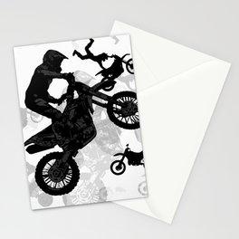High Flying Stuntmen - Motocross Riders Stationery Cards