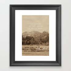 Keats: Poetry Framed Art Print