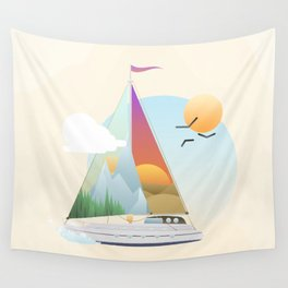 Seaside Vacation Wall Tapestry