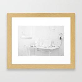 whitw Framed Art Print