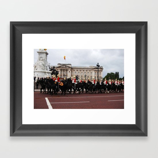 The Guards and Buckingham Palace 8 Framed Art Print