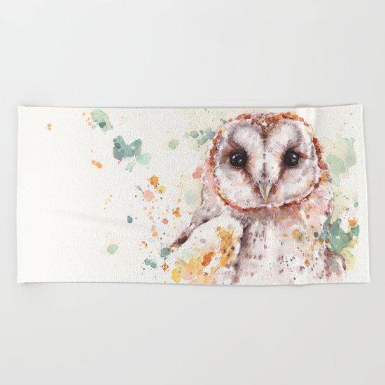 Australian Barn Owl Beach Towel