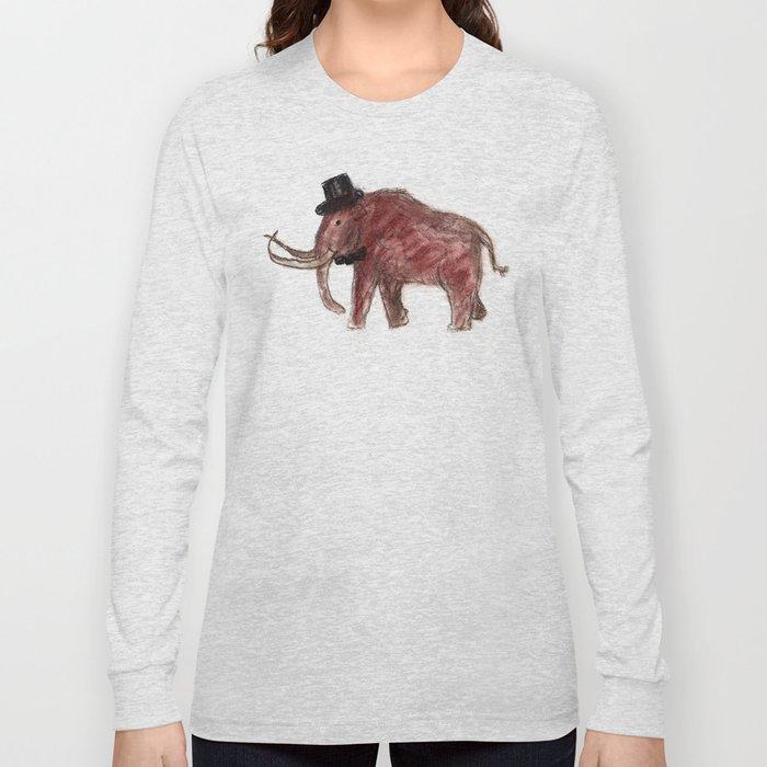 Cave art vintage mamut. Long Sleeve T-shirt