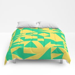 English Square (Yellow & Green) Comforters
