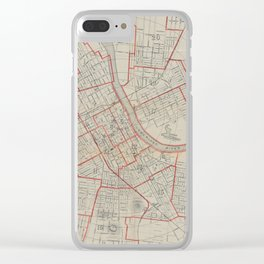 Vintage Map of Nashville TN (1891) Clear iPhone Case
