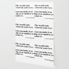 The world only exists in your eyes Wallpaper