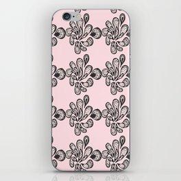 Soft pink ornament iPhone Skin