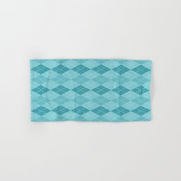 Textured Argyle in Blues Hand & Bath Towel
