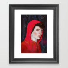 A Red Night Framed Art Print