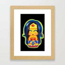 Kawaii Wonder Kokeshi Framed Art Print