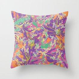 Tropical summer rainforest party Throw Pillow