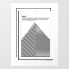 Moiré . (Spanish) Art Print