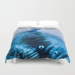 The crack of Baikal ice Duvet Cover