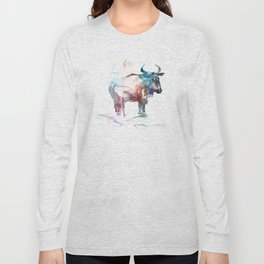 Wildebeest 2 / Abstract animal portrait. Long Sleeve T-shirt