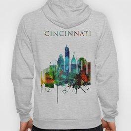 Colorful Cincinnati skyline Hoody