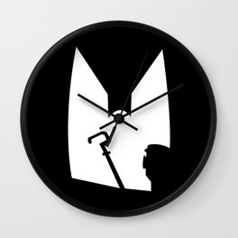The Shadow of the Bat Riddler Wall Clock