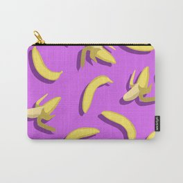 banana pattern on purple background. Carry-All Pouch