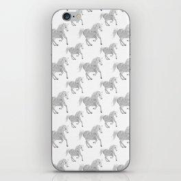 White Horse Pattern iPhone Skin