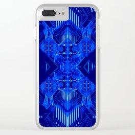 Blue diamonds of Jernia Clear iPhone Case