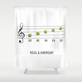 Peas & Harmony Shower Curtain