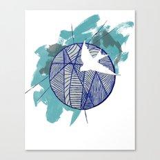 Blue Doodle Canvas Print