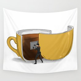 Coffee Confidential Wall Tapestry
