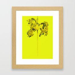 Lydia's Carousel Horse Framed Art Print