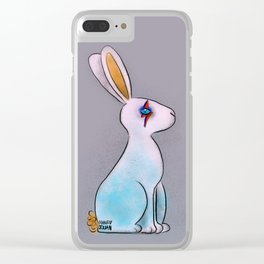 Bunny in Space Clear iPhone Case