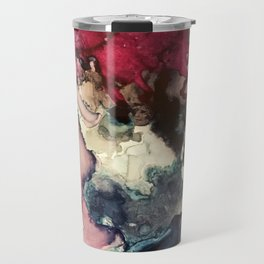 Dark Inks - Alcohol Ink Painting Travel Mug