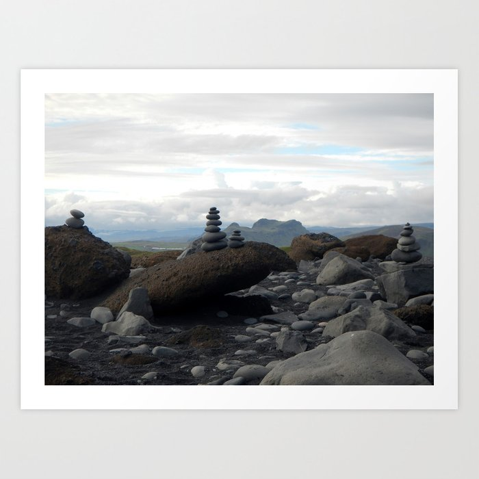 Icelandic Rock Stacking Art Print By Philippejuteau Society6