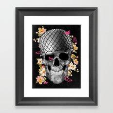 Skull Soldier Black Framed Art Print