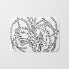 Character Drawing of a Peacock (1862) from Gazette Des Beaux-Arts a French art review Bath Mat