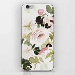 Romantic Loose Rose Bouquet iPhone Skin
