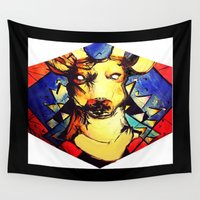 stag Wall Tapestries featuring Stag by Alex Victoria