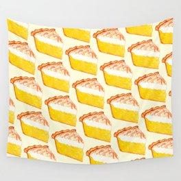 Lemon Meringue Pie Pattern Wall Tapestry
