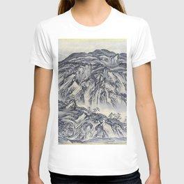 12,000pixel-500dpi - Kawanabe Kyosai - Rocky Mountain - Digital Remastered Edition T-shirt