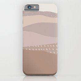Muted Dusty Abstract Mountain Landscape iPhone Case