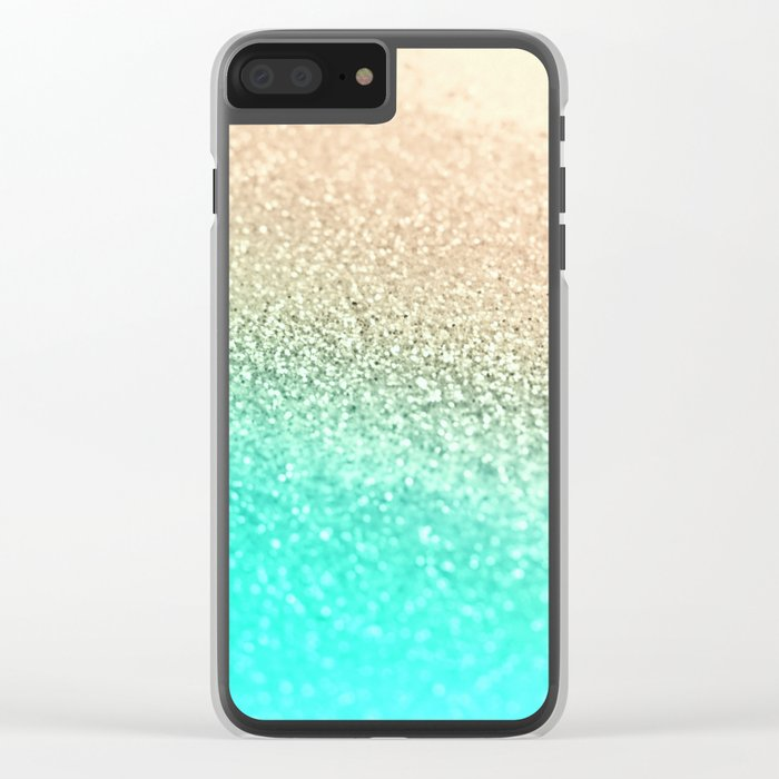 GOLD AQUA Clear iPhone Case